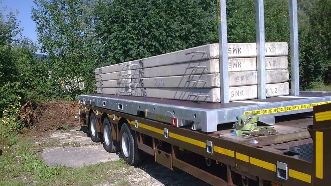 BDF-Bodenrahmen für den Transport von Betonteilen