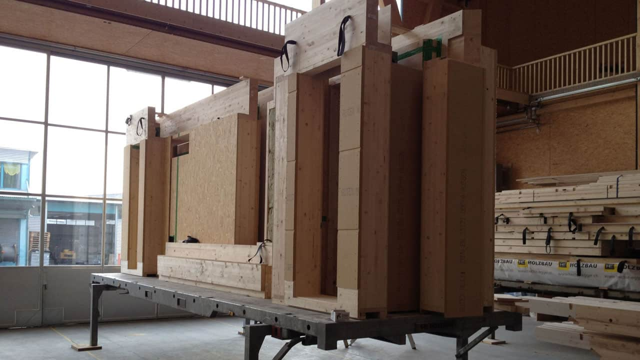 Wechselrahmen für den Transport von Fertighausteilen oder Holzelementen